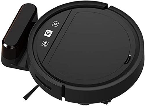 hwbq Robot Vacío Automático Delgado Recargable Inteligente Hogar USB Aspiradoras Robóticas Limpiador De Barrido Y Mojado Mopping Para Mascotas Pelo Alfombras Y Pisos-Negro