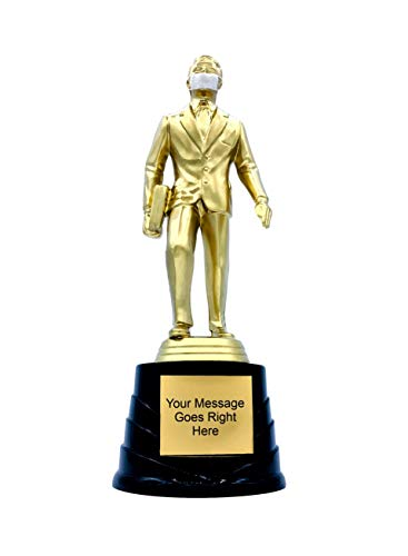 Trophy Crunch - The Office Dundie Award Trophy - Custom Trophy Awards for Employees - Salesman Award - COVID-19 Best Boss Gag Gifts