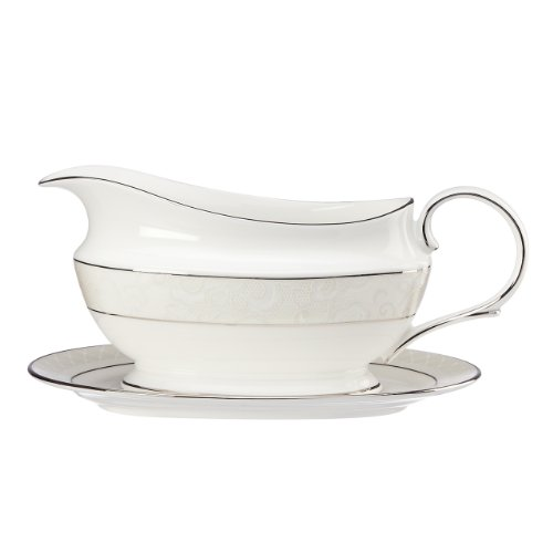 Lenox Venetian Lace Sauce Boat and Stand