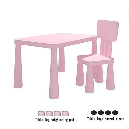 CHAXIA Chaise De Table Enfant Ensemble Jardin d'enfants Table À Jouets Chaise De Bébé Durable Insipide, Bleu, Rose (Color : B)