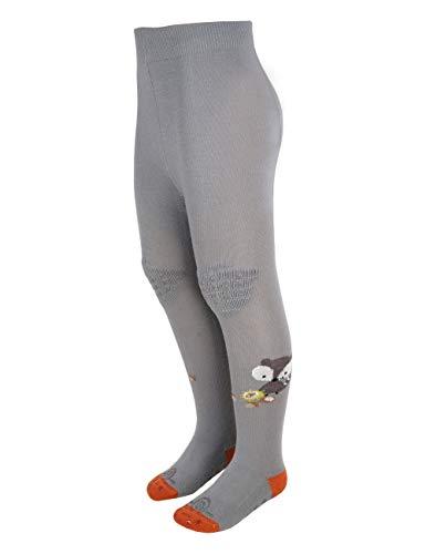 maximo Baby-Jungen Waschbär Halbplüsch Knie Sohle beschichtet Strumpfhose, Blau (Move 37), (Herstellergröße: 80/86)