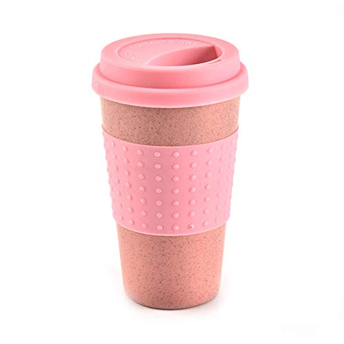 Cky Wheat Straw Plastic Coffee Cups Travel Coffee Mug with Lid Travel...