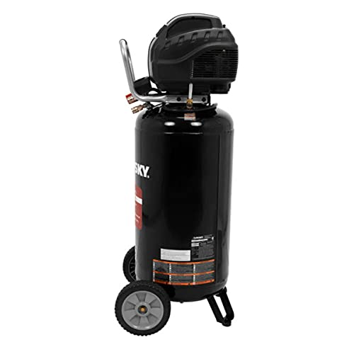 Husky 27 Gal. 200 PSI Oil Free Portable Vertical Electric Air Compressor