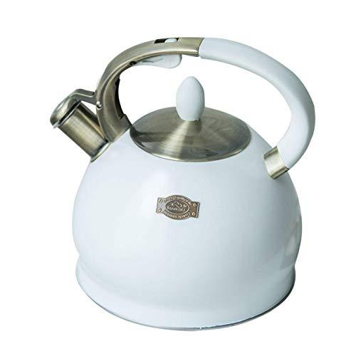 Phrat 3.5L Pfeifkessel Edelstahl Teekessel für Herd Teekanne Flötenkessel Teekessel mit Flöte Wasserkessel Induktion Wasserkocher Retro Stil Wasserkessel Induktionsherde