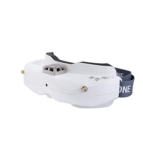 OUYAWEI SKYZONE SKY02X 5.8Ghz 48CH Diversity FPV Goggles Support 2D/3D HDMI Head Tracking with Fan DVR Front Camera for RC Racing Drone White