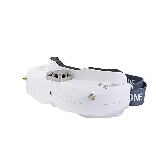 ETbotu SKYZONE SKY02X 5.8 GHz 48 CH verschillende FPV-bril ondersteunt 2D / 3D HDMI hoofdbewakingsbeveiliging met ventilator DVR frontcamera voor RC Racing drone Wit