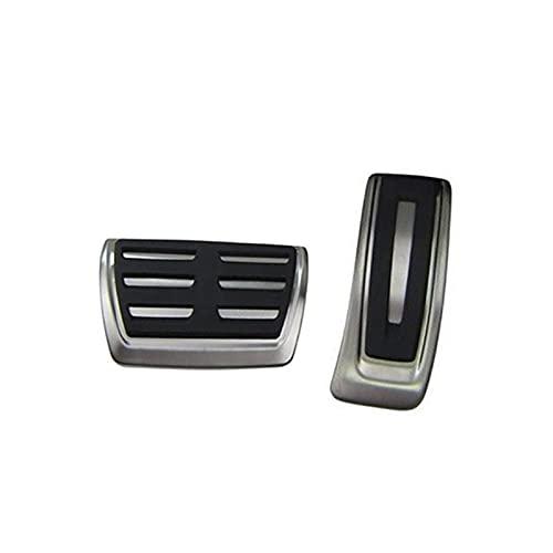 SHANGSHANG Zfuxiang STOR RHD AT MT Acero Inoxidable Pedales de reposapiés de Freno de Combustible for Audi A4 S4 B8 8K / A5 S5 8T / Q5 Adecuado for Conducir Lado Derecho (Color Name : AT 2pcs)