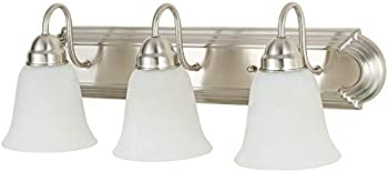 NEOUS 3 Bathroom Vanity Light Fixture with Alabaster Glass Shade