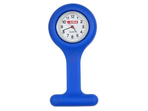 Gima 20401 Orologio per Infermieri in Silicone, Quandrante Rotondo, Colore Blu
