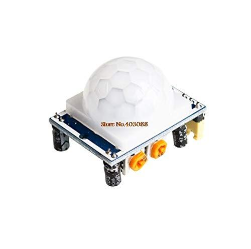 10PCS HC-SR501 Ajustar IR Piroeléctrico Infrarrojo PIR Módulo de detector de sensor de movimiento Mejores precios_Sensor