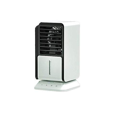 SHSM Mini Ventilador de Aire Acondicionado de Escritorio Portátil, Humidificador Usb, con Luz de Noche Led, Adecuada para el Hogar Y la Oficina pulverizador
