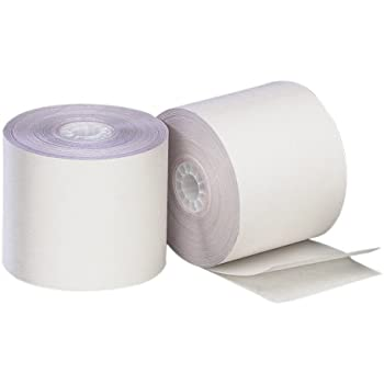 White//Canary 24 per Carton 4.5 Inches X 90 Feet PM Company Perfection 2 Ply POS//Cash Register Rolls 08785