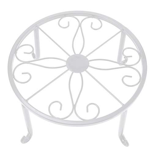 Hemoton Metall Blumenständer Blumentopfständer Pflanzenständer Blumenhocker Schwarz Pflanzenhalter Eisen Blumenregal für Indoor Outdoor Balkon Wohnzimmer Deko