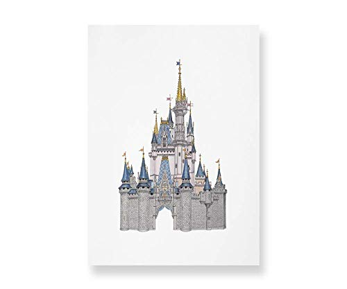 Disney World Castle Detailed Art | Prints taken from my VERY DETAILED drawing & watercolour painting. Perfect Disney Castle Gift