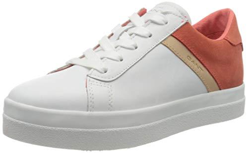 Gant Avona, Zapatillas para Mujer, Blanco (BR.Wht./BR. Coral...