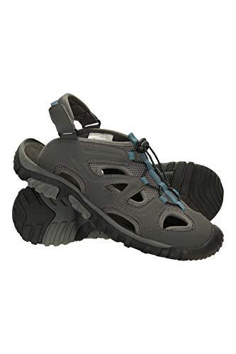 Mountain Warehouse Tide Sandalias para Hombre - Zapato Transpirable, Forradas de Neopreno, Calzado Acolchado de EVA, Correa de talón Ajustable - para Deportes, Gimnasio Azul 45