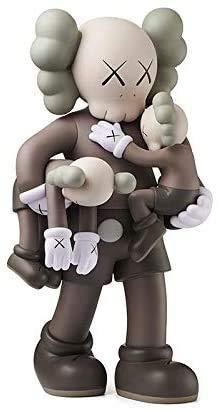 Trendy KAWS clean slate muñeca móvil abrazo articulación del bebé muñeca móvil-PVC modelo de personaje de acción-artículos de moda-decoración del hogar-decoración del coche-regalo de cumpleaños-40cm