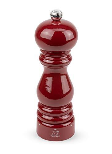 Dekomiro Peugeot 23591 Paris Salzmühle mit u-Select rot 18 cm Geschenkset mit 100 gr. Luisenhaller Tiefen-Salz
