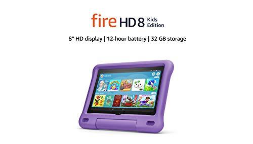 All-new Fire HD 8 Kids Edition tablet | 8 HD display, 32 GB, Purple Kid-Proof Case