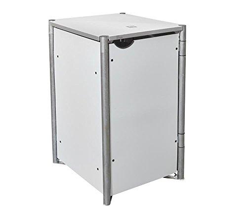 Hide Mülltonnenbox, Mülltonnenverkleidung, Gerätebox weiß // 70x81,7x115 cm (BxTxH) // Aufbewahrungsbox für 1 Mülltonne 240l Volumen