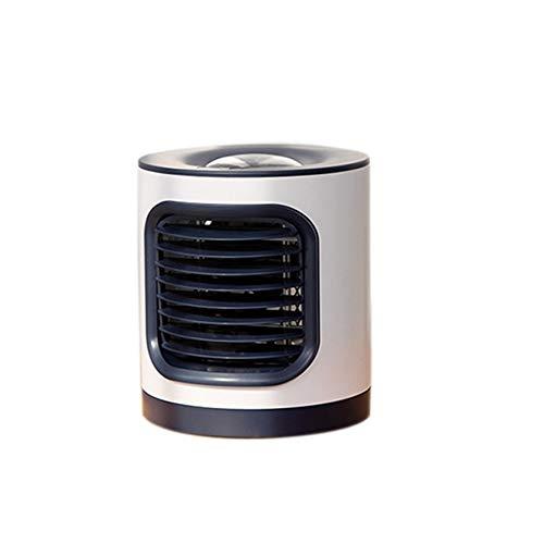 Camisin Portátil Aire Acondicionado Humidificador Purificador USB Lámpara de Proyección Ventilador de Escritorio Refrigerador de Aire