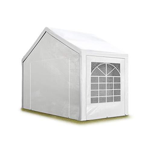 TOOLPORT Partyzelt Pavillon 3x2 m in weiß 180 g/m² PE Plane Wasserdicht UV Schutz Festzelt Gartenzelt