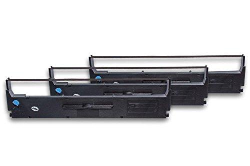 vhbw 3x nastro in nylon per stampante ad aghi Epson LQ-200, LQ-300, LQ-350, LQ200, LQ300, LQ350 sostituisce C13S015633.