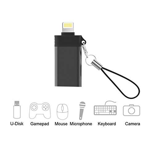 Goingaux USB Kamera Adapter, USB OTG Daten Synchronisationskabel Adapter für Phone 8/iPad Kompatibel mit Kamera, Flash Drive, Kartenleser (Schwarz)