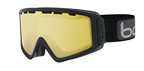 bollé Z5 OTG, Maschera da Sci Unisex-Adulto, Black Shiny/Lemon Gun Cat.1, M/L