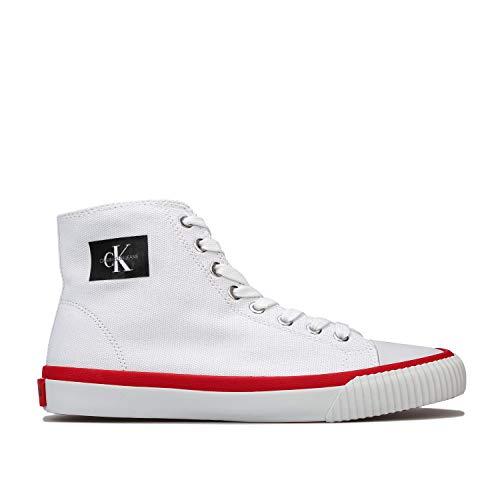 Calvin Klein Jeans Damen Isidora Hi-Top Lace Up Canvas Pumps in Weiß, Weiß - weiß - Größe: 36 EU