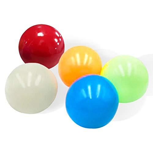 Bireegoo 5 Stück fluoreszierende Haftbälle zum Stressabbau, Kugeln, Dodgeball, Spiel, Jonglierball, Fangball, Stretch, Farbwechsel, fluoreszierend, Stressbälle