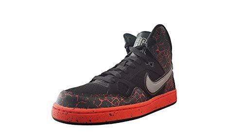 Nike Son of Force Mid Lava Black/Metallic Silver-Total Crimson (6.5 US Little Kid)