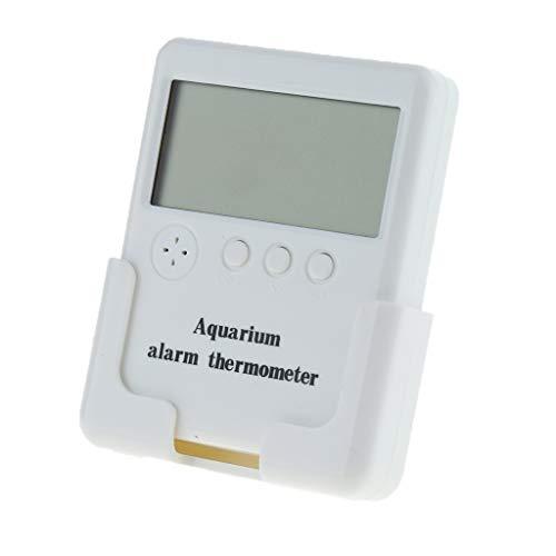 FLAMEER Termómetro Digital para Acuarios Medidor Productos para Mascotas Universal - Estilo 1-Alarma