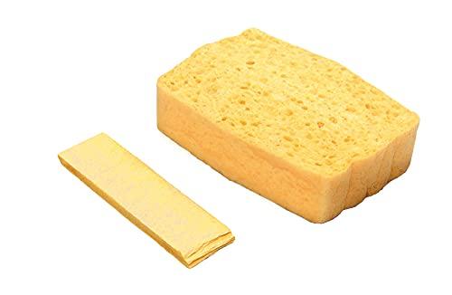 Spontex Quellschwamm aus 100{c4e46e44a06ba373fb22a42671ed34ff1e24421e4a62b32e05be5a76d3707a44} biologisch abbaubarer Zellulose, in recyceltem und recycelbarem PET-Beutel, saugstark, je 135 x 90 x 37 mm, 10er Pack