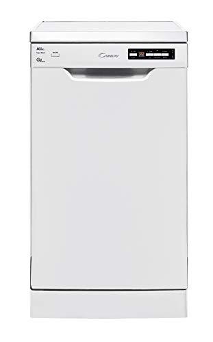 Candy CDP 2D1145W - Lavavajillas 45 cm independiente, 11 servicios, 3a bandeja, 7 programas, 45dBA, Clase A++A, color blanco