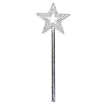 AKOAK Star Wand,13 Inches Silver Fairy Princess Angel Wand