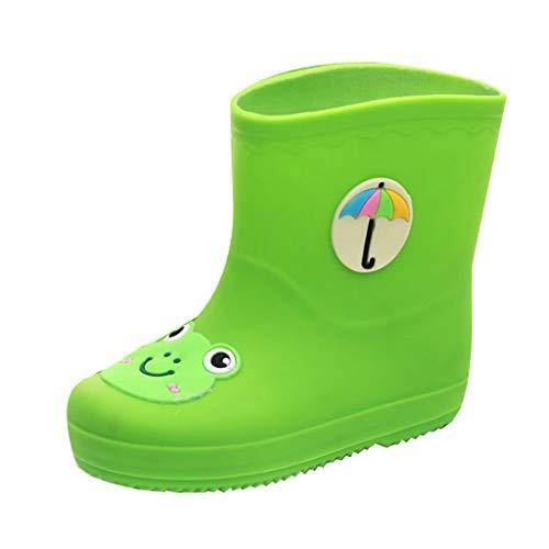Botas De Lluvia para NiñOs PVC Antideslizante Impermeable Zapatos De Agua De Dibujos Animados Lindo Estilo Pato Rana Zapatos Casuales De Estudiante Equipo De Lluvia Transpirable Regalo De CumpleañOs