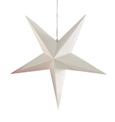 Philippi Der Stern Weihnachtsschmuck, Papier, Weiß, 24 x 24 cm