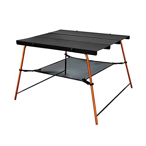 ESTEAR Mesa de Exterior portátil de Aluminio con Bolsa de Almacenamiento Mini Mesa de Camping Ultraligera Plegable portátil con Capa de Malla para Picnic en el jardín y Acampar