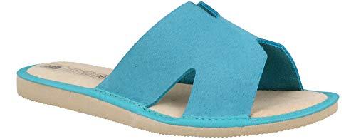 Zapatillas de Piel para Mujer - Cómodas y Transpirables (38 EU, del Mar 95)