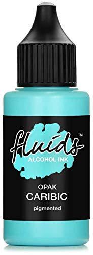 Fluids Alcohol Ink OPAK CARIBIC, Tinta al alcohol pigmentada, opaca sobre soportes claros y oscuros