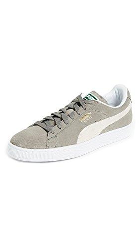 PUMA Suede Classic Sneaker,Steeple Gray/White,10 M US Men's