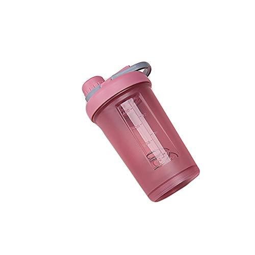 Fitness Shake Cup Woman, Taza Portátil De Leche De Nutrición Nutricional, Báscula De Mezcla con Tapa, Vaso De Plástico para Deportes Al Aire Libre, 17 Oz,darkbrickred,500ml