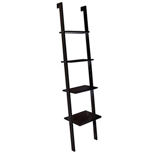 AWX-Flower stand Rekken Eenheid Ladder Rekken Wandplank 4 Tier Industrieel Ontwerp Boekenkast Rekken Woonkamer Keuken Kantoor Slanted Wandplank