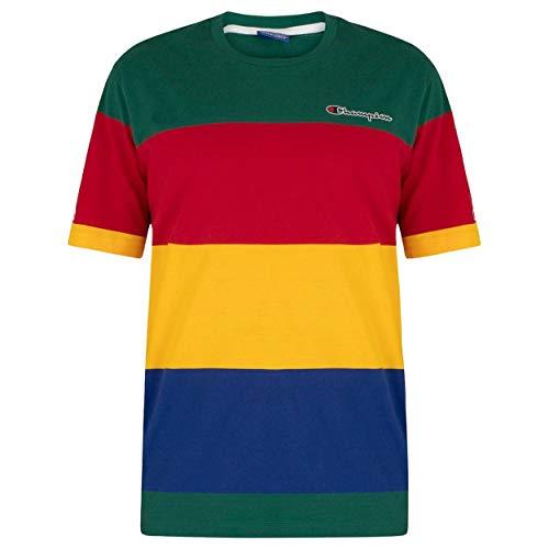 Champion Herren Brust-Logo T-Shirt, Mehrfarbig, XL