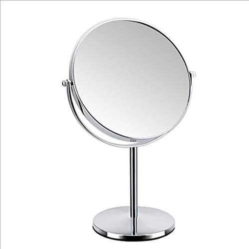 Lrxq draagbare achteruitkijkspiegel met spiegel in zilver briljant Europeo spiegel draagbaar voor 8 inch spiegel