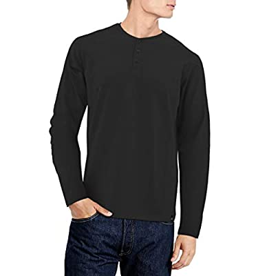 X RAY Men's Soft Slim Fit Long Sleeve Henley T-Shirt, Stretch Premium Cotton Casual Fashion Tee for Men