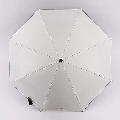 ZGMMM groene paraplu drie opvouwbare paraplu zwart zonnescherm wit