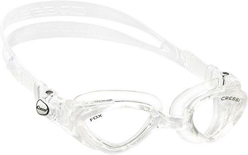 Cressi Premium Gafas de Natación para Adulto, Fox, Transparente/Lentes Claros
