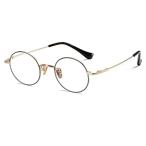 EYEphd Gafas de Lectura Ligeras Anti-Azules de la Moda del Marco pequeño Retro de Las señoras,Lector antirradiación de Lente 1.60 HD MR-8 Aumento +1.0 a +3.0,Negro,+1.25
